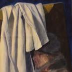 Akrüülmaal Acrylic painting cloth foldings riidevoldid Keiu Kuresaar
