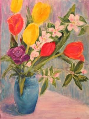 vaikelu lilled tulbid kevad õunapuuõied õlimaal keiu kuresaar