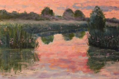 õlimaal maastik jõemaastik suveöö õhtu jõeääres suvi keiu kuresaar