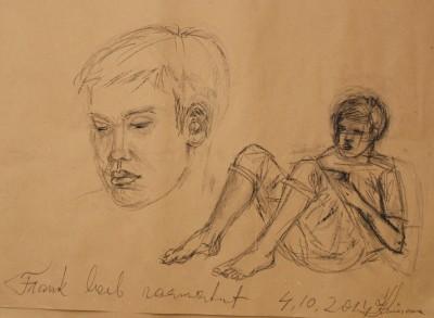conte crayons joonistus drawing frank loeb raamatut keiu kuresaar