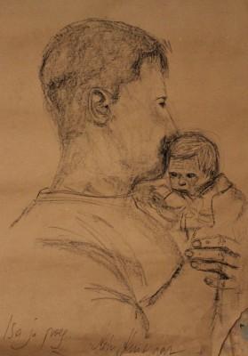 conte crayons joonistus drawing isa pojaga keiu kuresaar