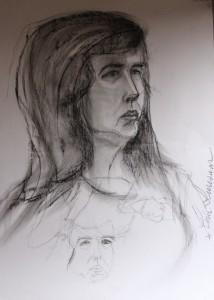 joonistus portree kunstnik Keiu Kuresaar