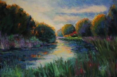 pastel painting landscape maastik pastellmaal Keila jõgi Koolmel Keiu Kuresaar