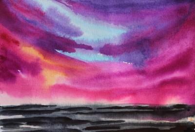 Akvarell abstraktne Keiu Kuresaar