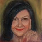 pastel painting pastellmaal autoportree self portrait 3 Keiu Kuresaar