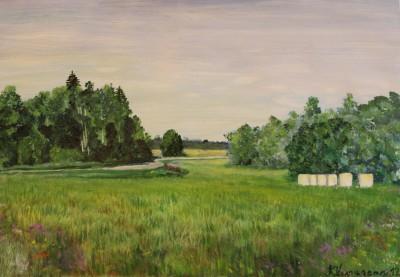 akrüülmaal acrylic painting maastik  landscape Valingu kivikurv keiu kuresaar