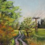 pastel painting landscape maastik pastellmaal Valingu Aila Jõgisoo sihi tee Keiu Kuresaar