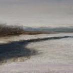 pastel painting landscape maastik pastellmaal jõgi river november Keiu Kuresaar