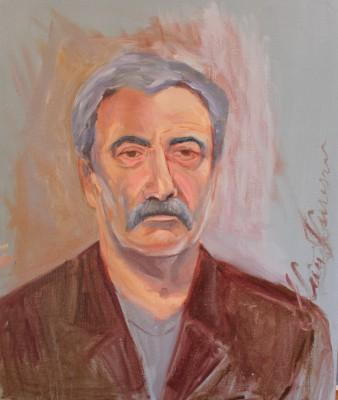 õlimaal mehe portree oil painting portrait man Keiu Kuresaar