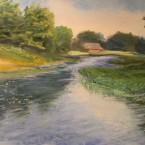 pastel painting landscape maastik pastellmaal Teenuse jõgi Keiu Kuresaar