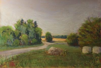 pastel painting landscape maastik pastellmaal Valingu Aila Jõgisoo kivikurv Keiu Kuresaar