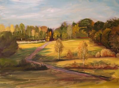 Õlimaal maastik Valingu jõgisoo aila küla oil painting landscape Keiu Kuresaar