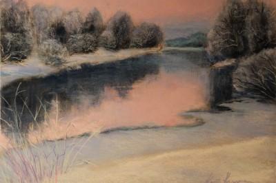 pastel painting landscape maastik pastellmaal Keila jõe luhad 3 Keiu Kuresaar