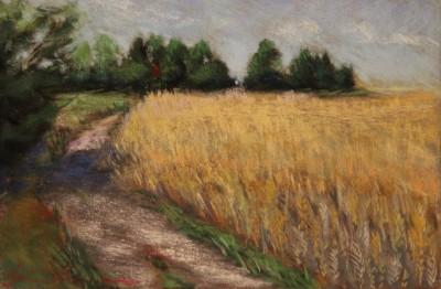 pastel painting pastellmaal maastik landscape Valingu viljapõld Keiu Kuresaar