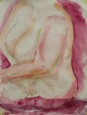 akvarell watercolor akt nude lamav naine woman live model 10  Keiu Kuresaar
