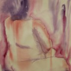 akvarell watercolor akt nude lamav naine woman live model 9 Keiu Kuresaar