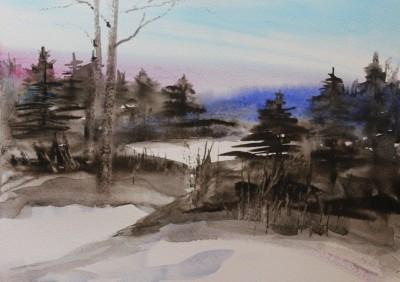 akvarell watercolor landscape maastik 2 Keiu Kuresaar