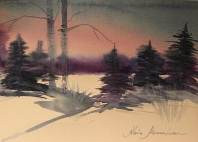 akvarell watercolor landscape maastik 3 Keiu Kuresaar