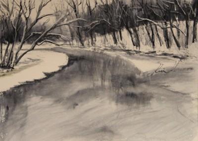 akvarell watercolor landscape maastik river Keila joa 2 Keiu Kuresaar