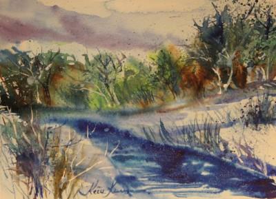 akvarell watercolor landscape maastik river Keila joa 3 Keiu Kuresaar