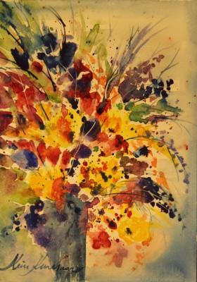 akvarell watercolor lilled floral 1 Keiu Kuresaar