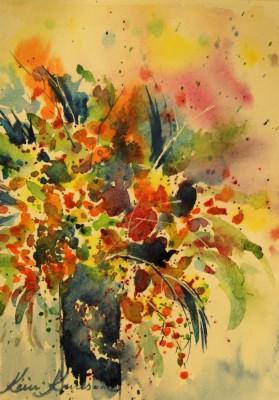 akvarell watercolor lilled floral 2 Keiu Kuresaar