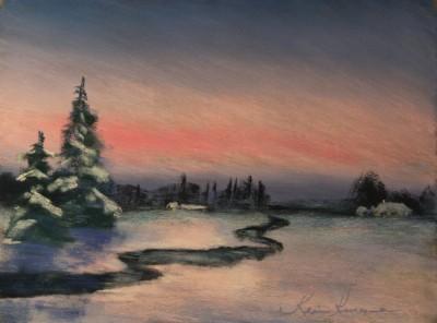 pastel painting landscape maastik pastellmaal Eestimaa estonia 2 Keiu Kuresaar
