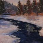 pastel painting landscape maastik pastellmaal Keila Joa jõgi Keiu Kuresaar