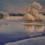 pastel painting landscape maastik pastellmaal Keila jõgi talvel Keiu Kuresaar