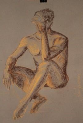 krokii mehe figuur 30 min male figure drawing Keiu Kuresaar 1