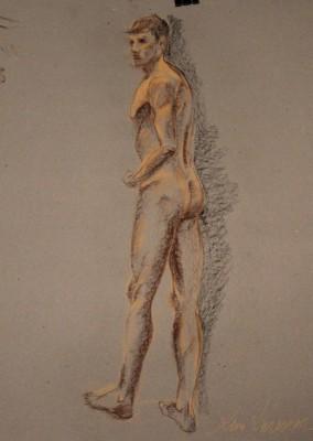 krokii mehe figuur 30 min male figure drawing Keiu Kuresaar 2