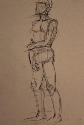 krokii mehe figuur 5 min male figure drawing Keiu Kuresaar 1
