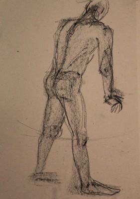 krokii mehe figuur 5 min male figure drawing Keiu Kuresaar 2