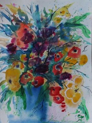 akvarell watercolor lilled floral 10 Keiu Kuresaar
