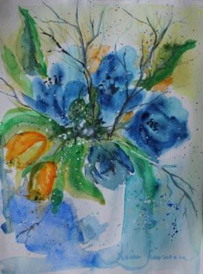 akvarell watercolor lilled floral 11 Keiu Kuresaar