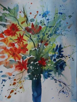 akvarell watercolor lilled floral 12 Keiu Kuresaar