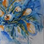 akvarell watercolor lilled floral 13 Keiu Kuresaar