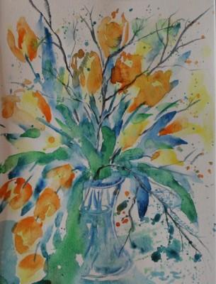 akvarell watercolor lilled floral 4 Keiu Kuresaar
