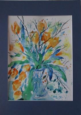 akvarell watercolor lilled floral 40 Keiu Kuresaar
