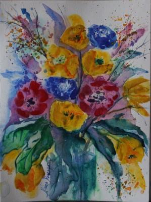 akvarell watercolor lilled floral 6 Keiu Kuresaar