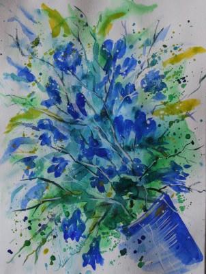 akvarell watercolor lilled floral 7 Keiu Kuresaar