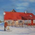 akrüülmaal acrylic painting maastik  landscape Kuresaare talu talvel keiu kuresaar