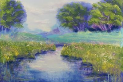 pastel painting landscape maastik pastellmaal Keila jõgi river 2 Keiu Kuresaar