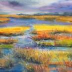 pastel painting landscape maastik pastellmaal raba soo marsh Keiu Kuresaar