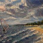 õlimaal maastik oil painting seascape meri Laulasmaa Keiu Kuresaar