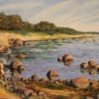 õlimaal maastik oil painting seascape meri Laulasmaa rand Keiu Kuresaar