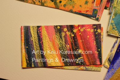 business card visiitkaart keiu kuresaar paintings drawings abstract original art 2