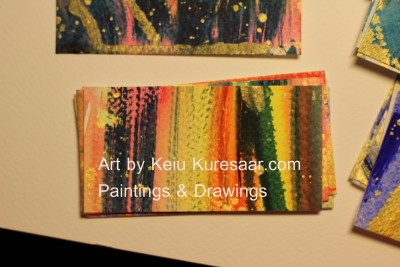 business card visiitkaart keiu kuresaar paintings drawings abstract original art 3