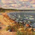 õlimaal maastik oil painting seascape meri Kaberneeme rand Eesti estonia Keiu Kuresaar