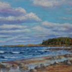 õlimaal maastik oil painting seascape meri Kaberneeme rand 2 Eesti estonia Keiu Kuresaar